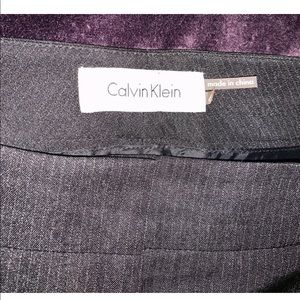 Calvin Klein Dark Grey Pinstriped Dress Pants Sz 6